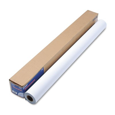 "Enhanced Adhesive Synthetic Paper, 44"" X 100 Ft, White"