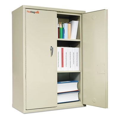 STORAGE CABINET, 36W X 19 1/4D X 44H, UL LISTED 350 FOR FIRE, PARCHMENT