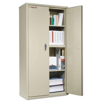 STORAGE CABINET, 36W X 19 1/4D X 72H, UL LISTED 350, PARCHMENT
