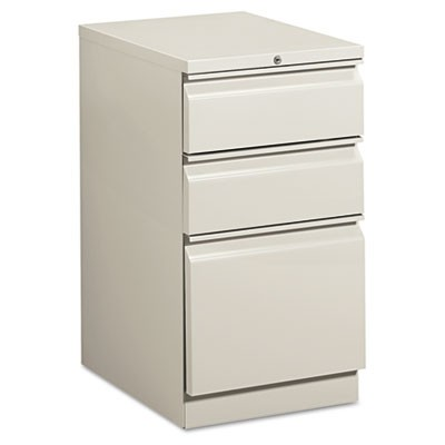 EFFICIENCIES MOBILE BOX/BOX/FILE PEDESTAL, 15W X 19.88D X 28H, LIGHT GRAY