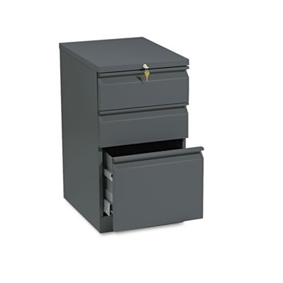 EFFICIENCIES MOBILE BOX/BOX/FILE PEDESTAL, 15W X 19.88D X 28H, CHARCOAL