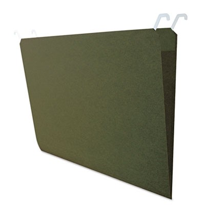 HANGING FILE FOLDERS WITH INNOVATIVE TOP RAIL, LEGAL SIZE, 1/4-CUT TAB, STANDARD GREEN, 20/PACK