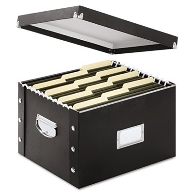 "FILE BOX, LETTER/LEGAL FILES, 16.25"" X 9.75"" X 13.25"", BLACK"