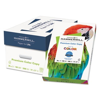 PREMIUM COLOR COPY PRINT PAPER, 100 BRIGHT, 28LB, 11 X 17, PHOTO WHITE, 500/REAM