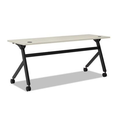 Multipurpose Table Flip Base Table, 72w X 24d X 29 3/8h, Light Gray
