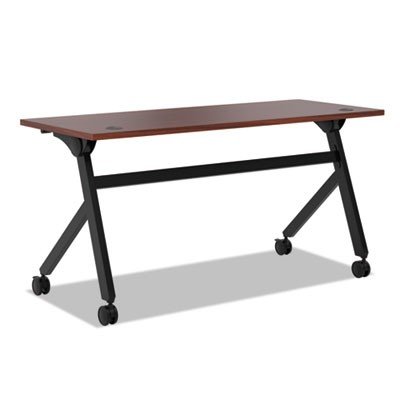 Multipurpose Table Flip Base Table, 60w X 24d X 29 3/8h, Chestnut