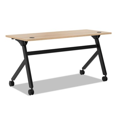 Multipurpose Table Flip Base Table, 60w X 24d X 29 3/8h, Wheat