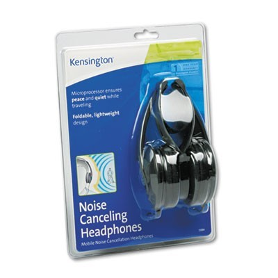 NOISE CANCELING HEADPHONES, 5 FT, BLACK