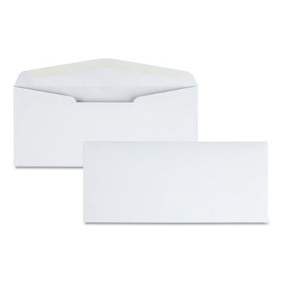 LASER & INKJET WHITE BUSINESS ENVELOPE, #10, BANKERS FLAP, GUMMED CLOSURE, 4.13 X 9.5, WHITE, 500/BOX