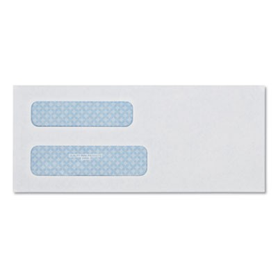 DOUBLE WINDOW SECURITY-TINTED CHECK ENVELOPE, #8 5/8, COMMERCIAL FLAP, GUMMED CLOSURE, 3.63 X 8.63, WHITE, 500/BOX
