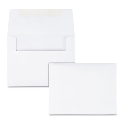 GREETING CARD/INVITATION ENVELOPE, A-2, SQUARE FLAP, GUMMED CLOSURE, 4.38 X 5.75, WHITE, 100/BOX