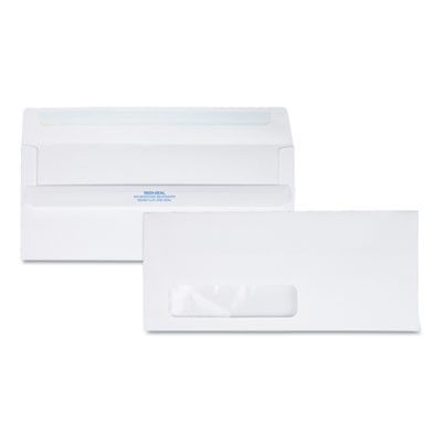 REDI-SEAL ENVELOPE, #10, COMMERCIAL FLAP, REDI-SEAL CLOSURE, 4.13 X 9.5, WHITE, 500/BOX