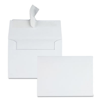 GREETING CARD/INVITATION ENVELOPE, A-4, SQUARE FLAP, REDI-STRIP CLOSURE, 4.5 X 6.25, WHITE, 50/BOX