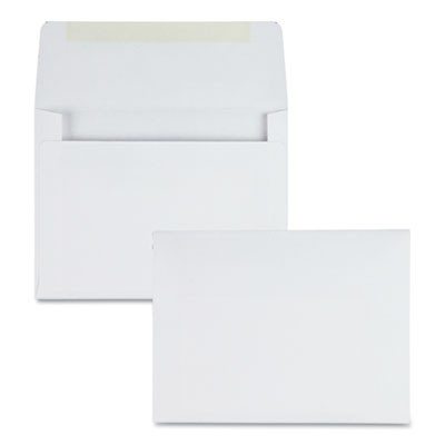 GREETING CARD/INVITATION ENVELOPE, A-2, SQUARE FLAP, GUMMED CLOSURE, 4.38 X 5.75, WHITE, 500/BOX