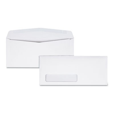 LASER & INKJET WHITE BUSINESS ENVELOPE, #10, COMMERCIAL FLAP, GUMMED CLOSURE, 4.13 X 9.5, WHITE, 500/BOX
