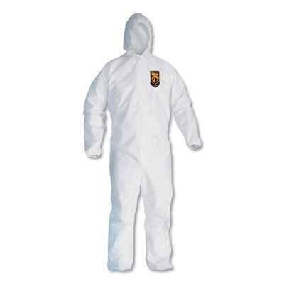 A10 Light Duty Coveralls, 4x-Large, White, 25/carton