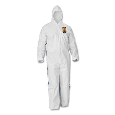 A40 Breathable Back Coveralls, White/blue, 4x-Large, 25/carton