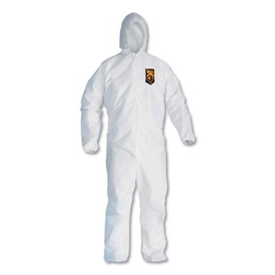A10 Light Duty Coveralls, 2x-Large, White, 25/carton