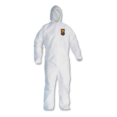 A10 Light Duty Coveralls, 3x-Large, White, 25/carton