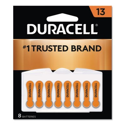 HEARING AID BATTERY, #13, 8/PACK
