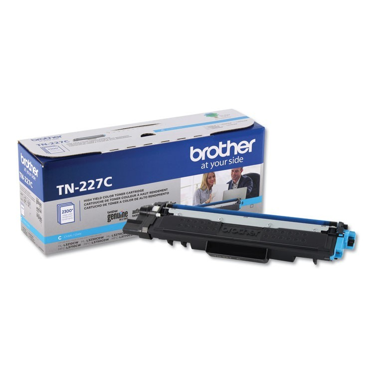 TN227C HIGH-YIELD TONER, 2300 PAGE-YIELD, CYAN
