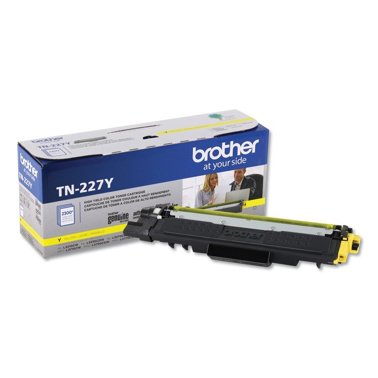 TN227Y HIGH-YIELD TONER, 2300 PAGE-YIELD, YELLOW