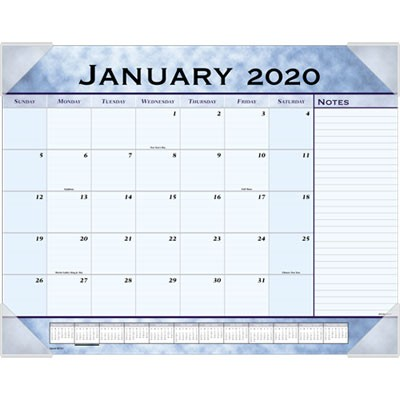 DESK PAD,17X22 MONTH,BE