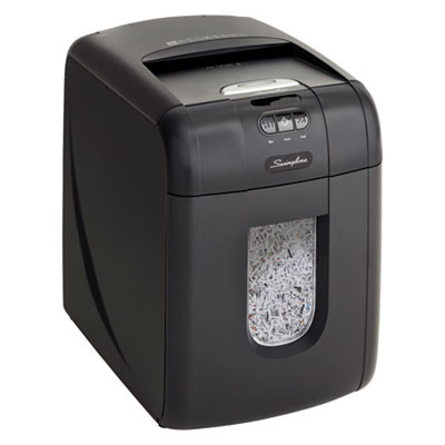 STACK-AND-SHRED 130M AUTO FEED MICRO-CUT SHREDDER, 130 AUTO/6 MANUAL SHEET CAPACITY