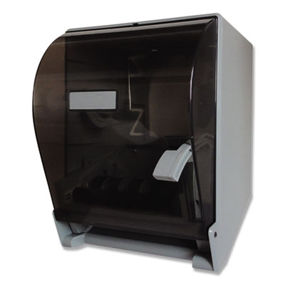 "LEVER ACTION ROLL TOWEL DISPENSER, 11 1/4"" X 9 1/2"" X 14 3/8"", TRANSPARENT"
