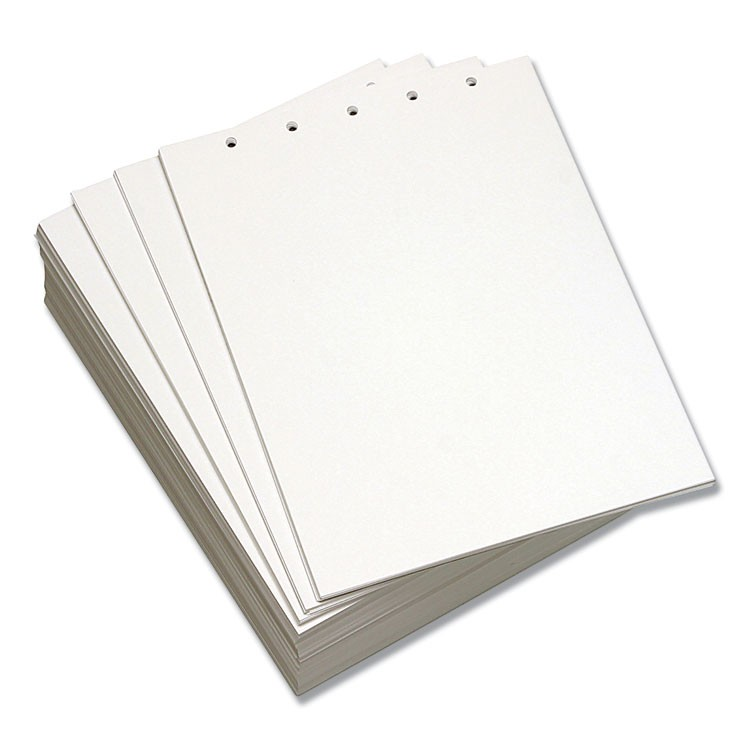 CUSTOM CUT-SHEET COPY PAPER, 92 BRIGHT, 5-HOLE, 20LB, 8.5 X 11, WHITE, 500/REAM