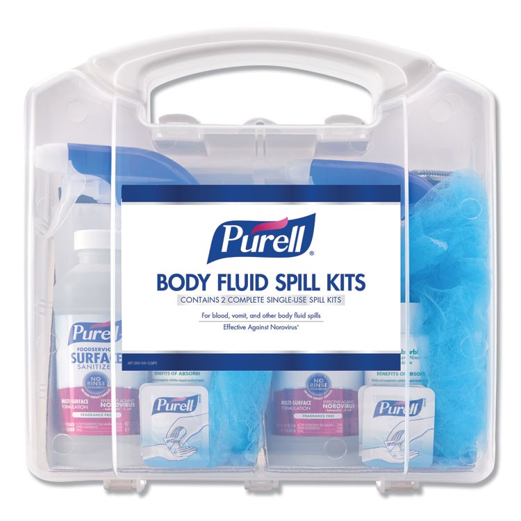 "BODY FLUID SPILL KIT, 4.5"" X 11.88"" X 11.5"", ONE CLAMSHELL CASE WITH 2 KITS/CARTON"