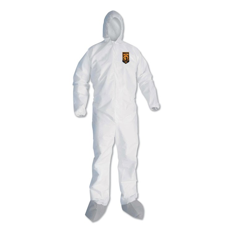 A45 LIQUID/PARTICLE PROTECTION SURFACE PREP/PAINT COVERALLS, 4XL, WHITE, 25/CT