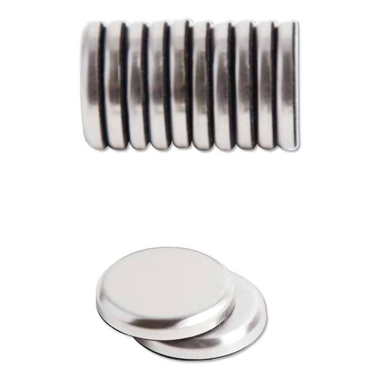 "HIGH ENERGY MAGNETS, CIRCLE, SILVER, 1.25"" DIA, 12/PACK"