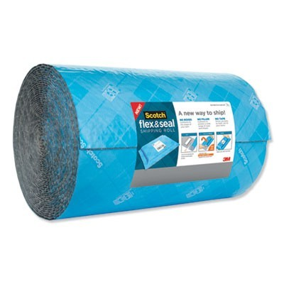 "FLEX AND SEAL SHIPPING ROLL, 15"" X 200 FT, BLUE/GRAY"