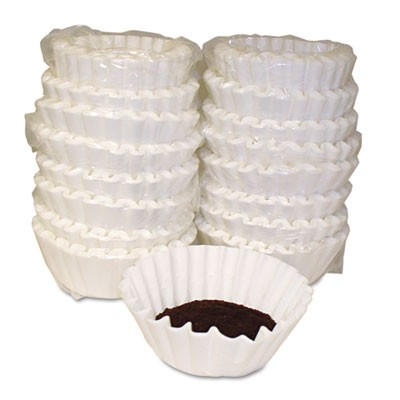 Coffee Filters, Paper, Basket Style, 12 To 15 Cups, 800/carton