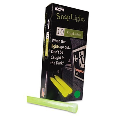 "Snaplights, 6""l X 3/4""w, Green, 10 EA/BX, 100 EA/Carton"