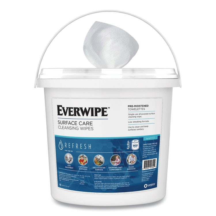 EVERWIPE CHEM-READY DISPENSER BUCKET, 12.63 X 12.63 X 11.5, WHITE, 2/CARTON
