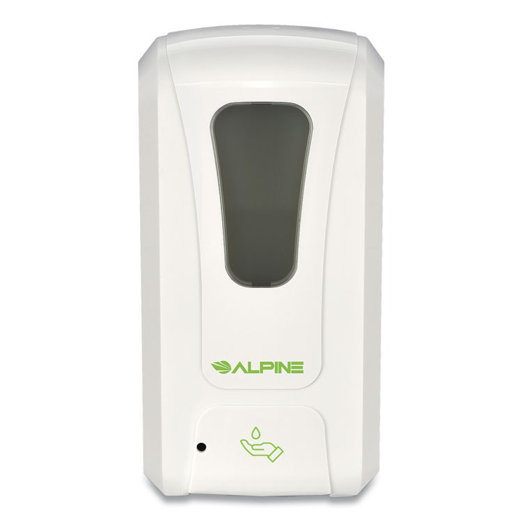 AUTOMATIC HANDS-FREE LIQUID HAND SANITIZER/SOAP DISPENSER, 1,200 ML, 6 X 4.48 X 11.1, WHITE