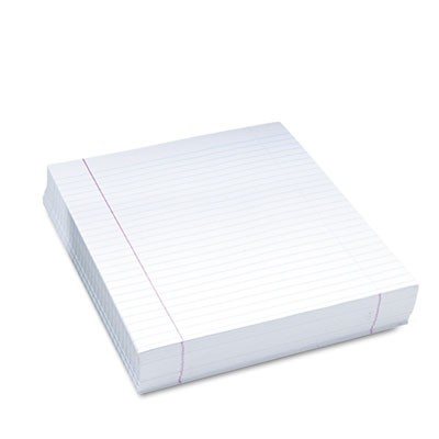 COMPOSITION PAPER, 8.5 X 11, WIDE/LEGAL RULE, 500/PACK