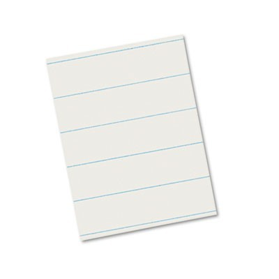 "RULED NEWSPRINT PAPER, 3/8"" SHORT RULE, 8.5 X 11, 500/PACK"