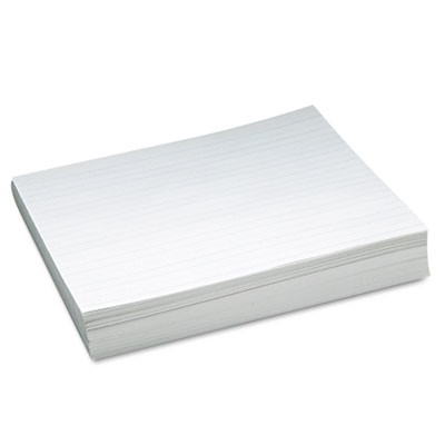 "SKIP-A-LINE RULED NEWSPRINT PAPER, 3/4"" TWO-SIDED LONG RULE, 8.5 X 11, 500/PACK"