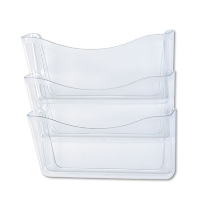Unbreakable Three Pocket Wall File Set, Letter, Clear