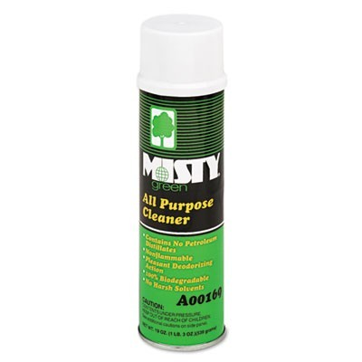 Green All-Purpose Cleaner, Citrus Scent, 19oz Aerosol, 12/carton
