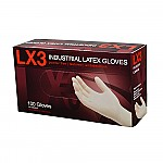 AMMEX LX3 Ivory Latex Industrial Powder Free Disposable Gloves (Case of 1000)
